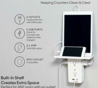 Executive Shelf Multi Charge Wall Outlet