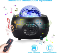 LED Night Light Starry Sky Projector with Bluetooth Wireless Speaker