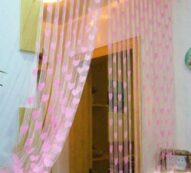 Multicoloured Eyelet Fitting Solid Curtains (Set Of 2)