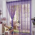 Multicoloured Eyelet Fitting Curtains (Set Of 2)